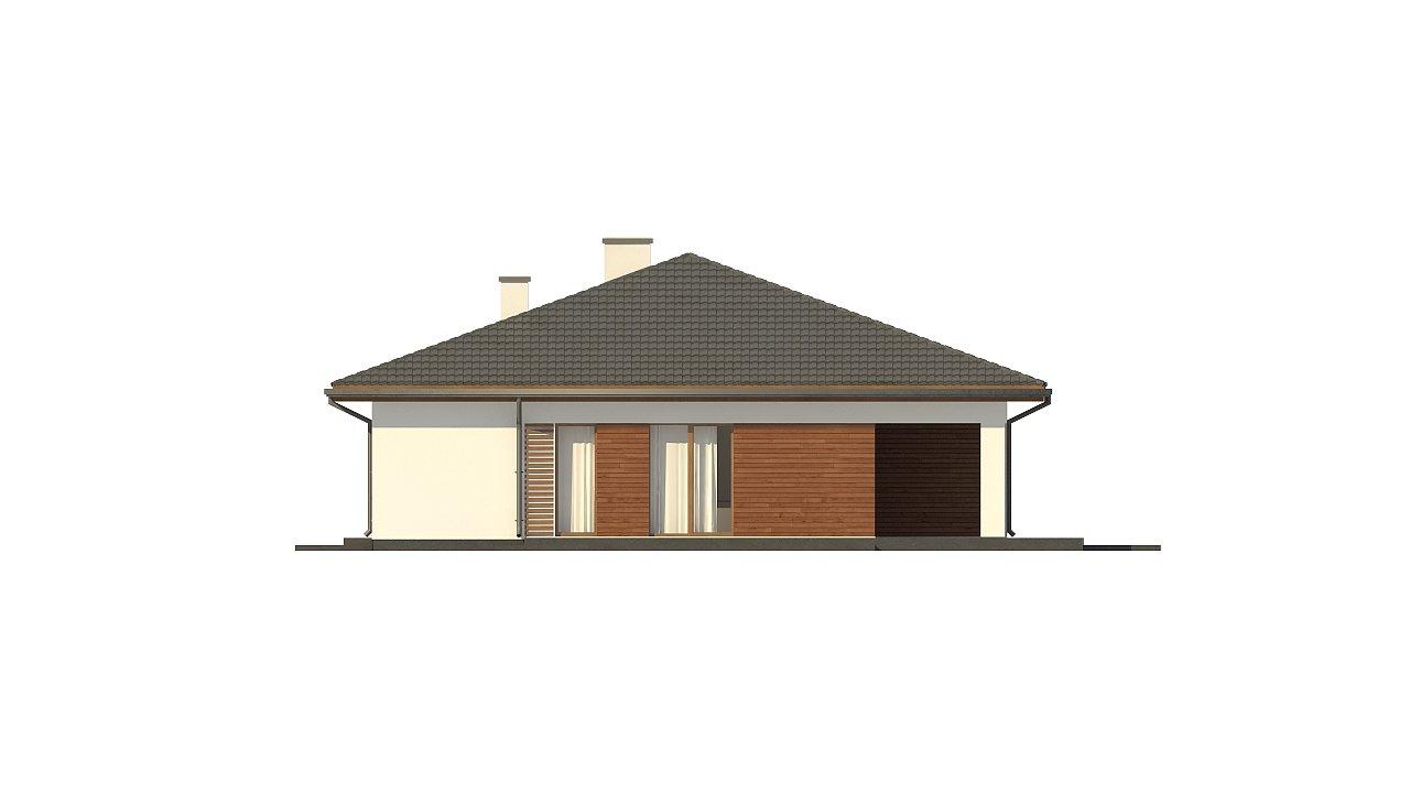 Стильный одноэтажный дом с комфортной крытой террасой 24