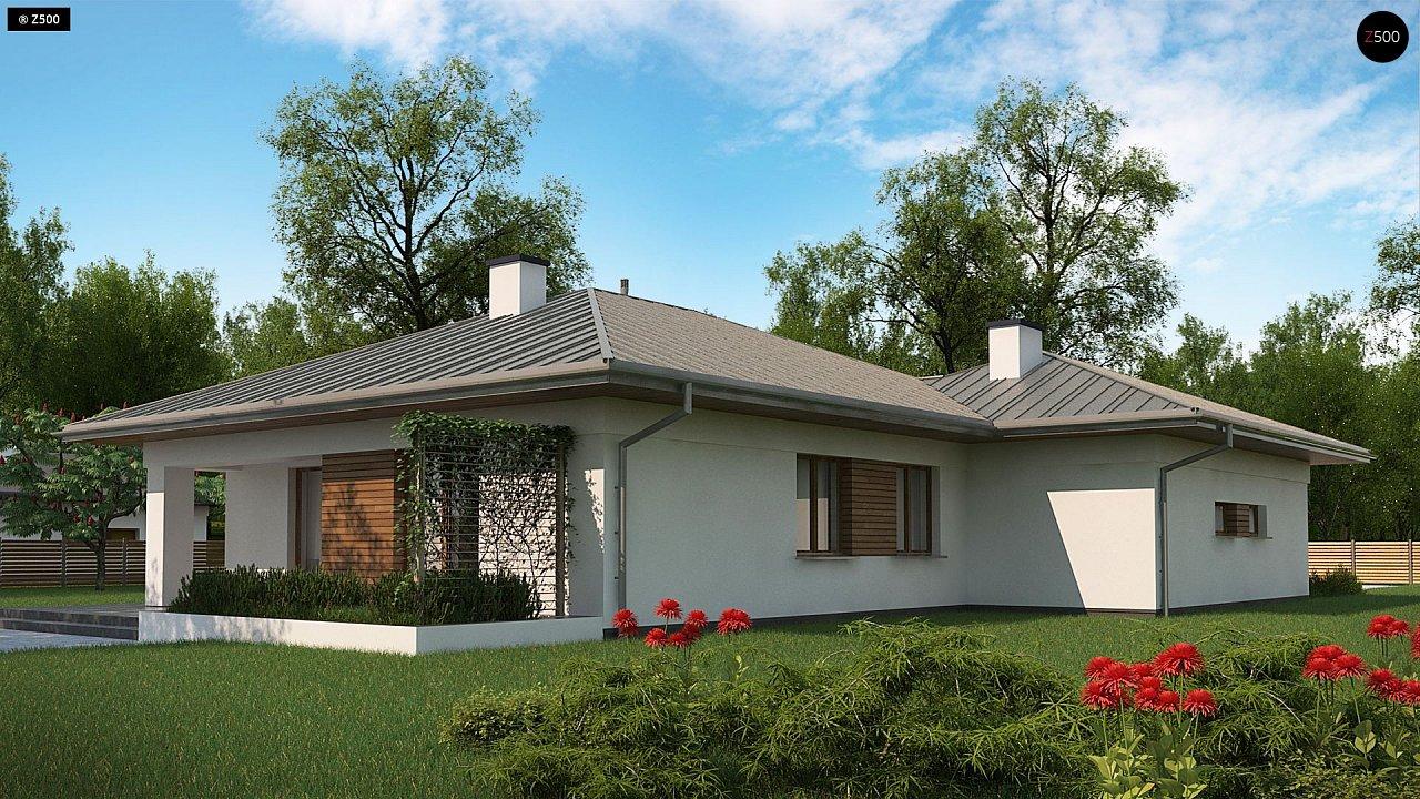 Одноэтажный дом с гаражом на две машины - фото 6