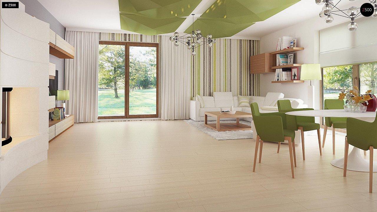 Стильный одноэтажный дом с комфортной крытой террасой 13