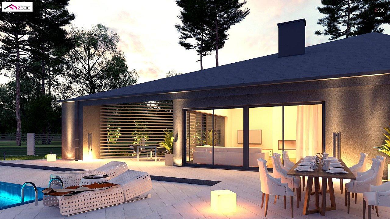 Проект современного дома с вторым светом, стильной кровлей и удобной планировкой. 5