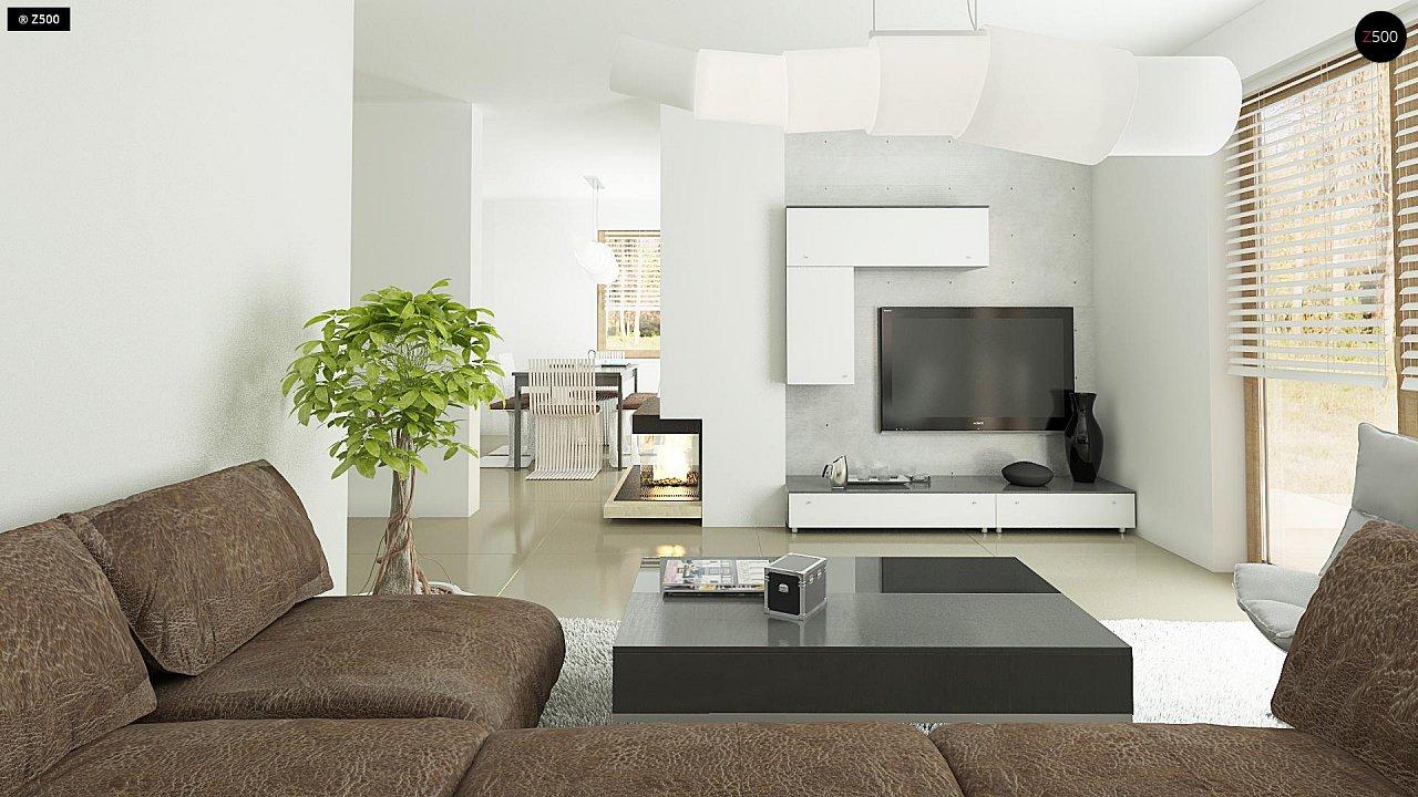 Небольшой стильный и практичный дом с мансардными окнами. - фото 6