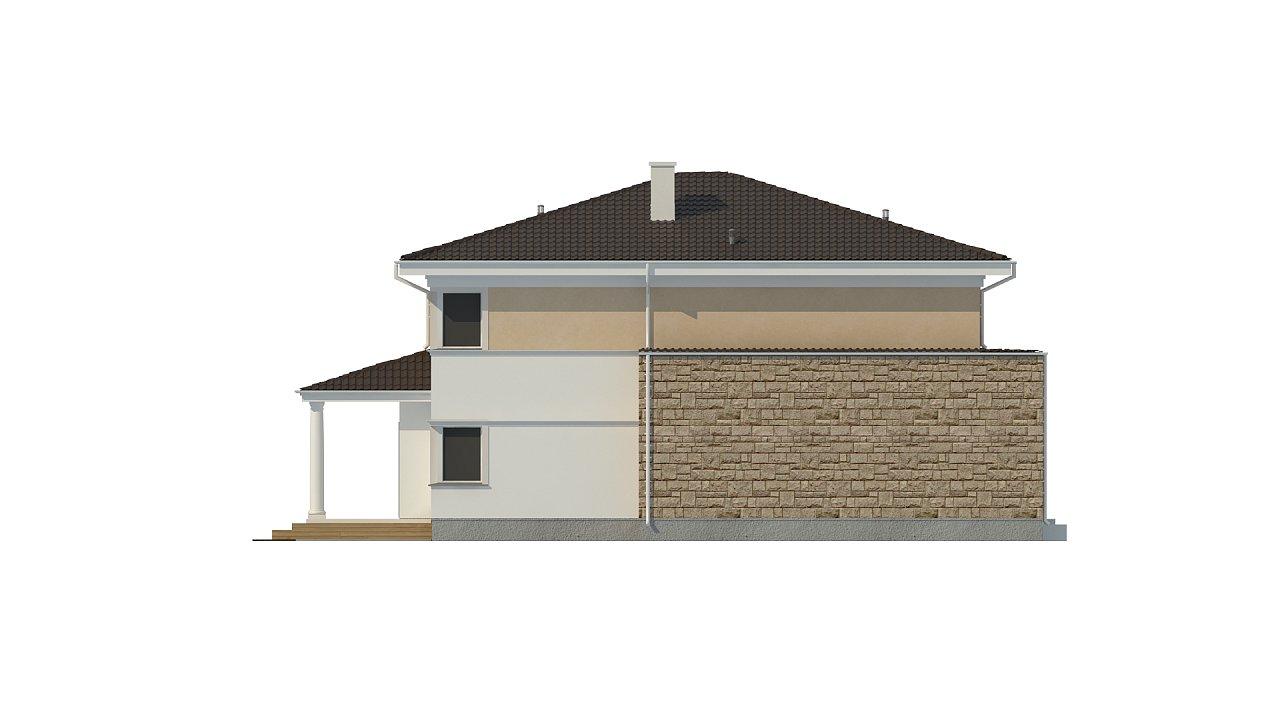 Проект комфортной двухэтажной виллы в традиционном стиле. 7