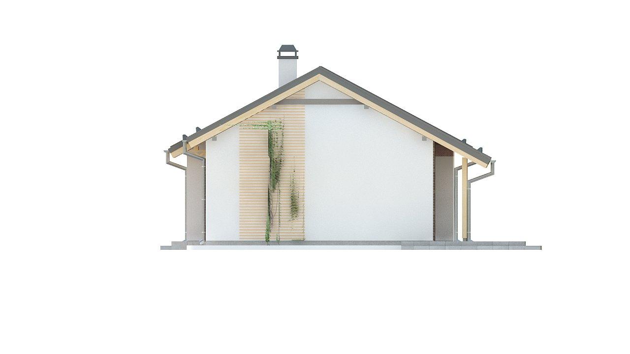 Простой и недорогой в строительстве одноэтажный дом небольшой площади. 19