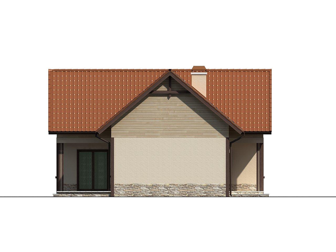 Дом для узкого участка с дополнительной спальней на первом этаже и кухней со стороны сада. 5