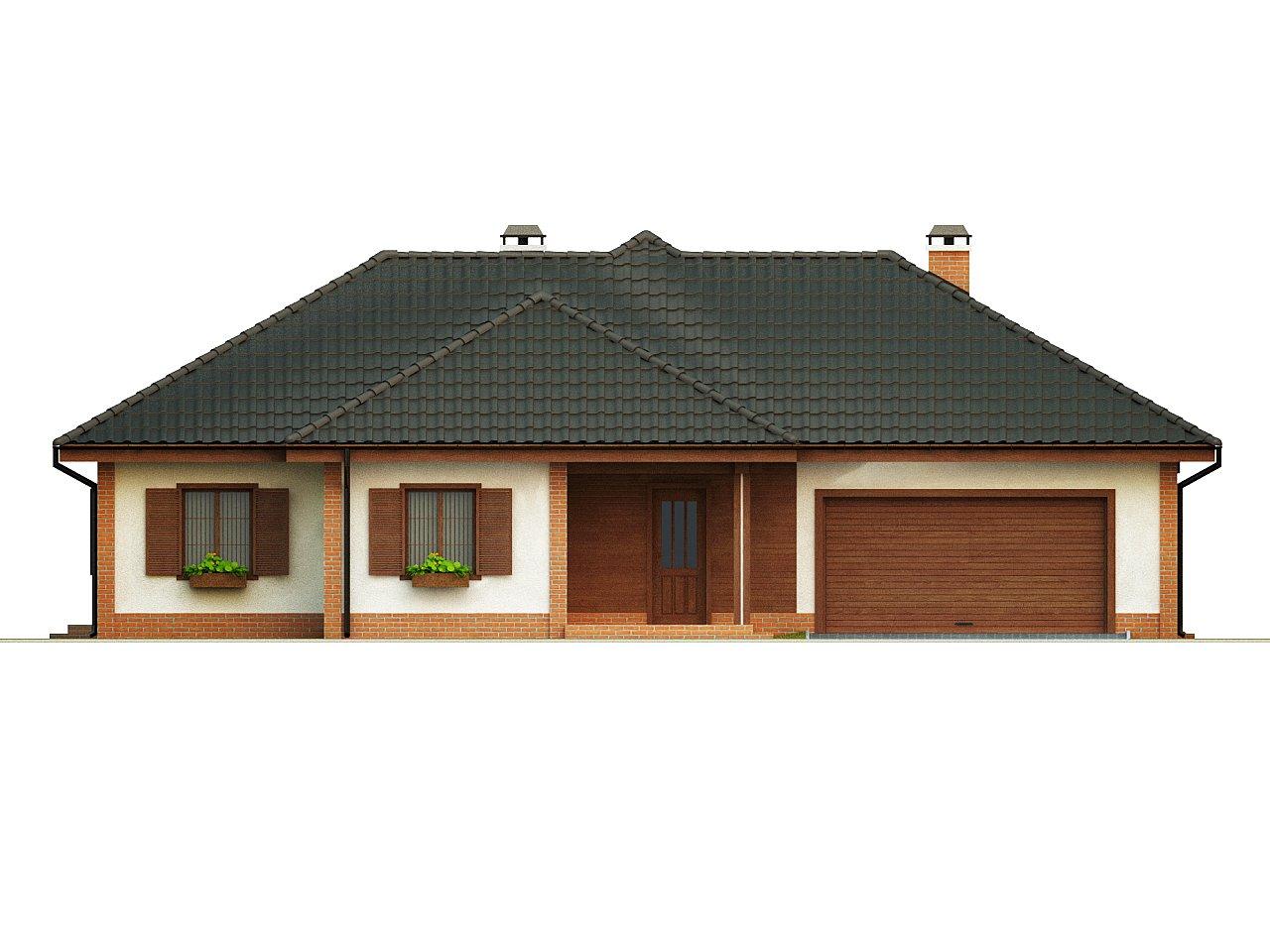 Просторный комфортный одноэтажный дом с гаражом для двух машин. - фото 3