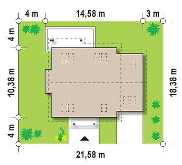 Проект функционального и удобного дома с комнатой над гаражом. план помещений 1
