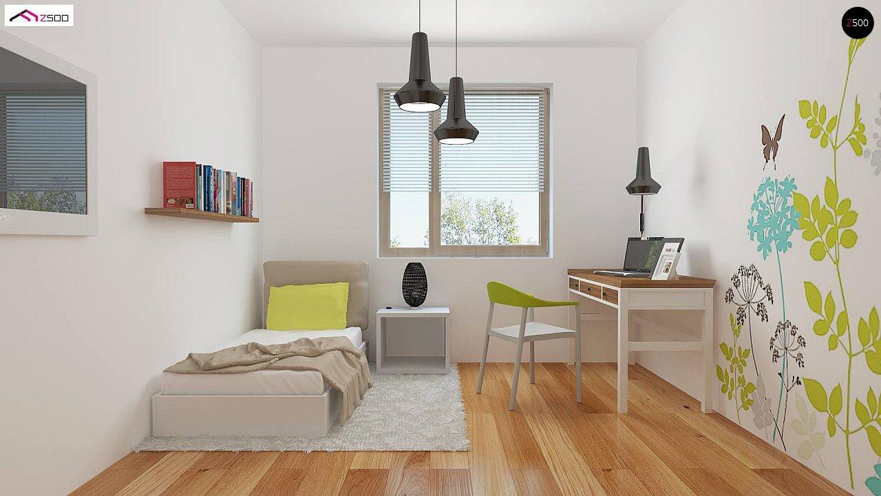 Дом, выполненный в традиционном стиле с одноуровневой планировкой. 7