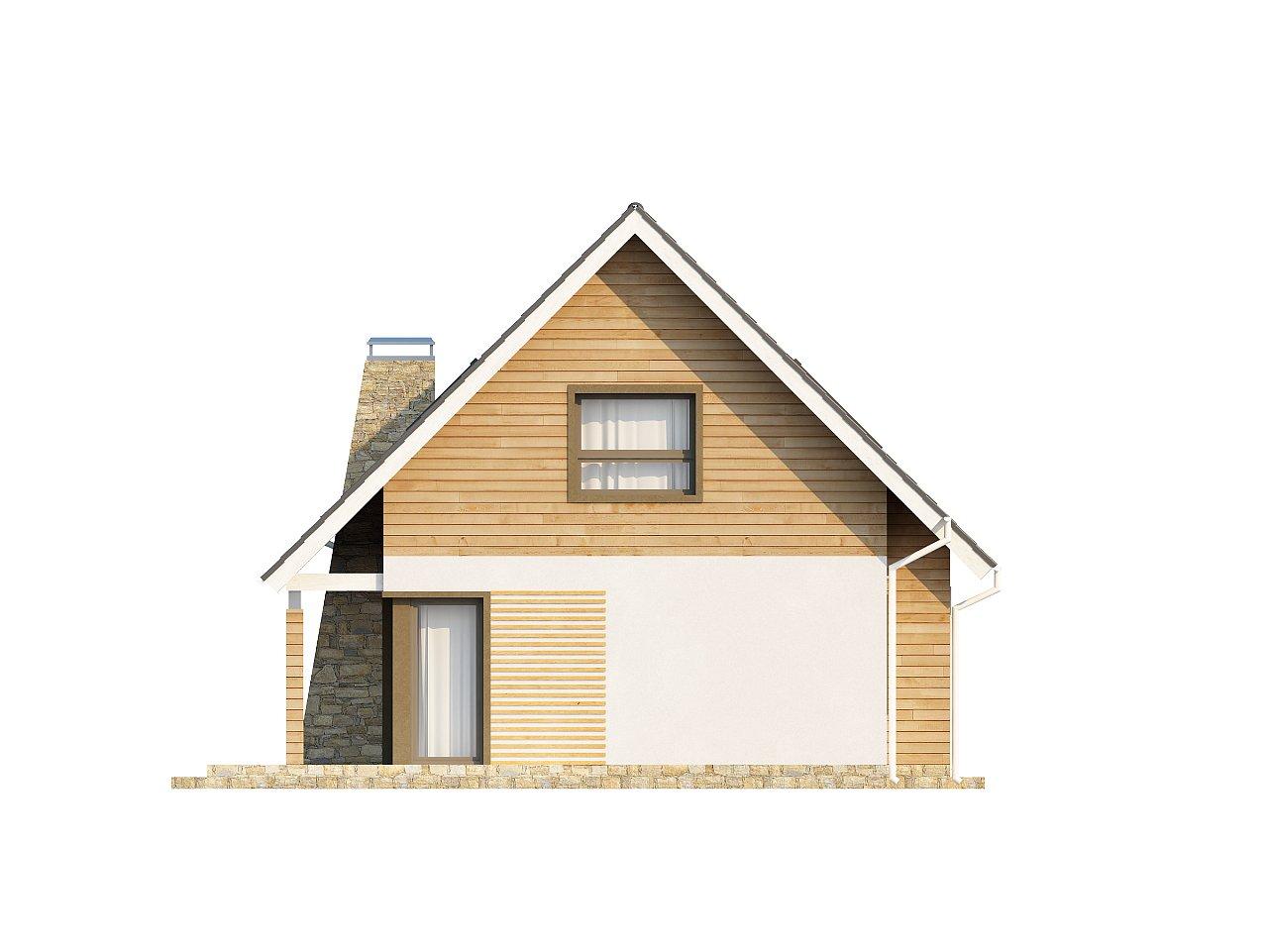 Традиционный дом простой формы с двускатной крышей, с дополнительной комнатой на первом этаже. 24
