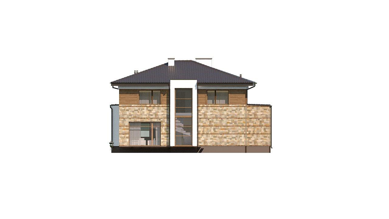 Проект двухэтажного дома с гаражом для двух авто, с баней - фото 9