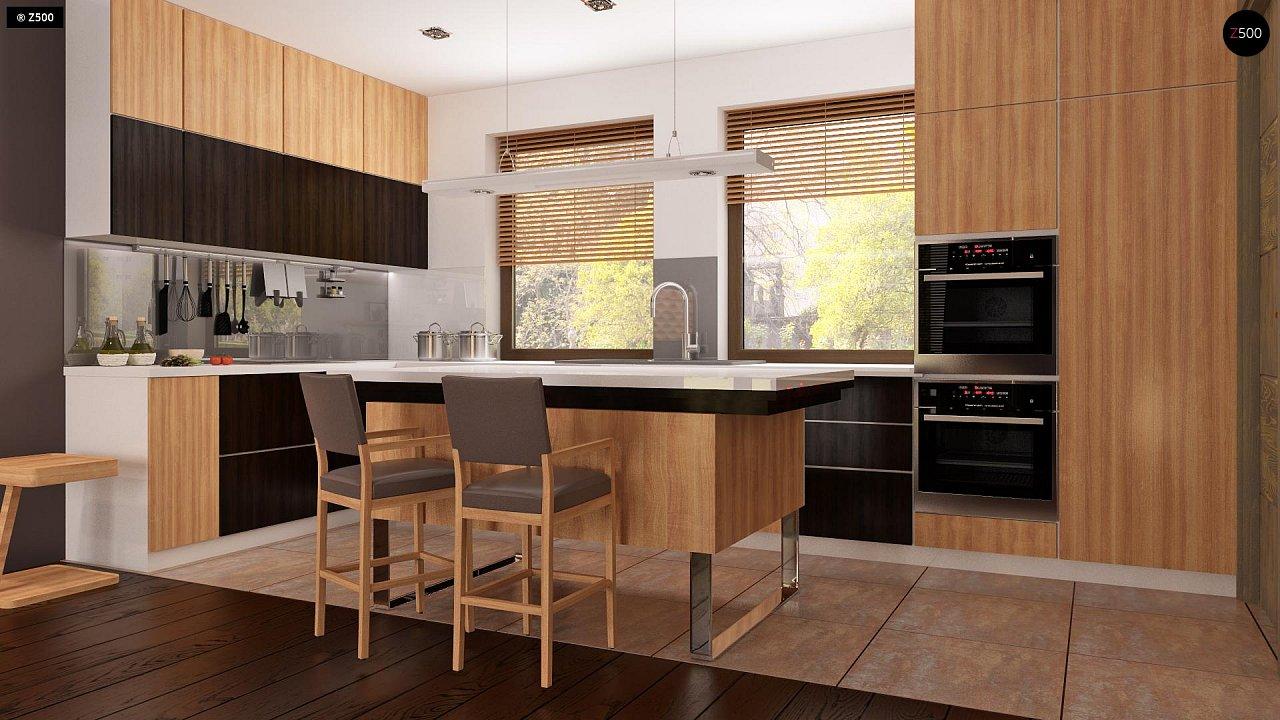 Проект небольшого практичного одноэтажного дома. Есть возможность обустройства чердачного помещения. 8