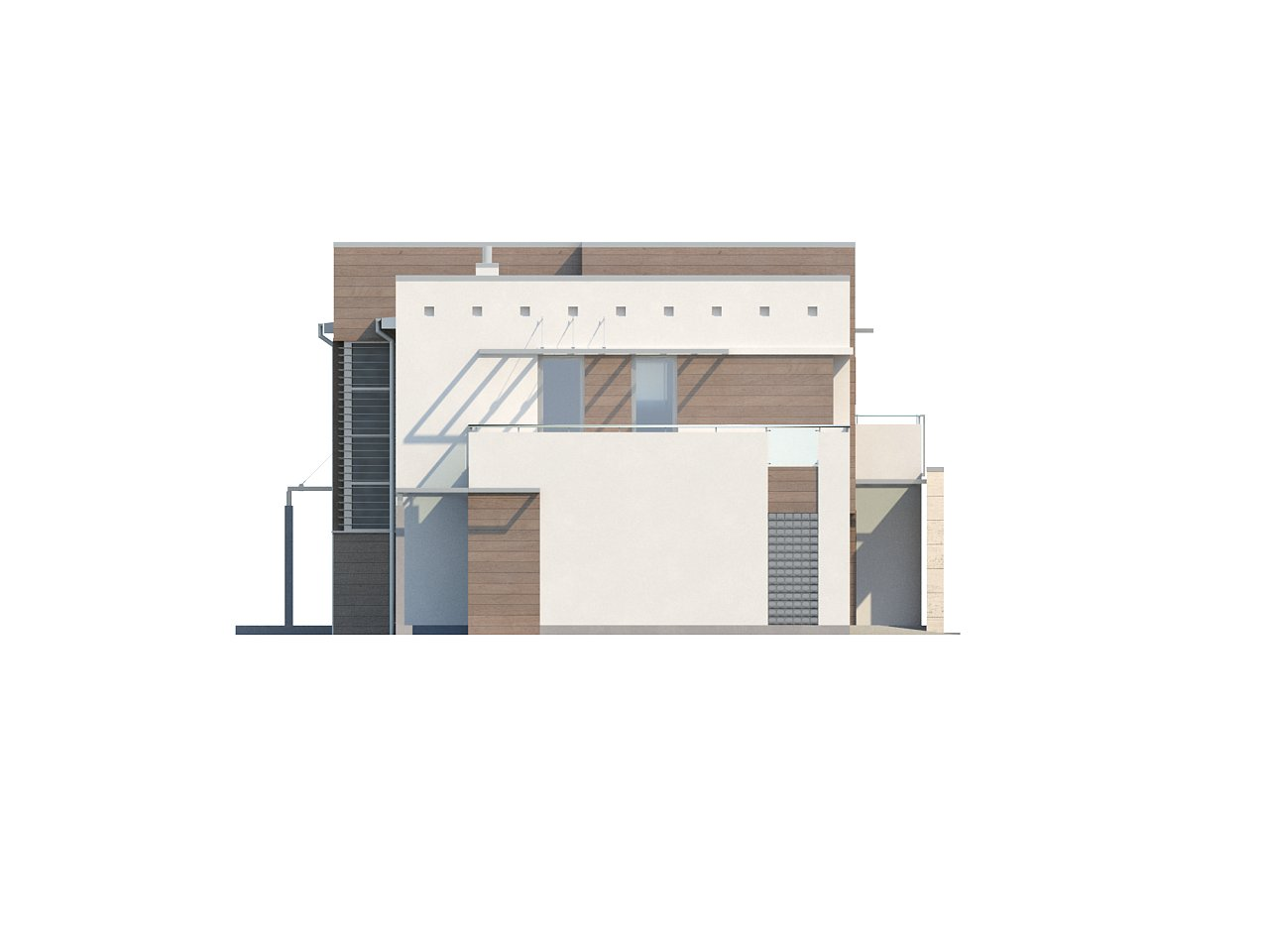 Версия проекта Zx15 с гаражом для двух автомобилей. - фото 23