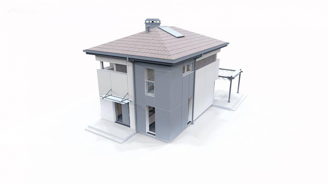 Современный проект дома с 3 спальнями 11