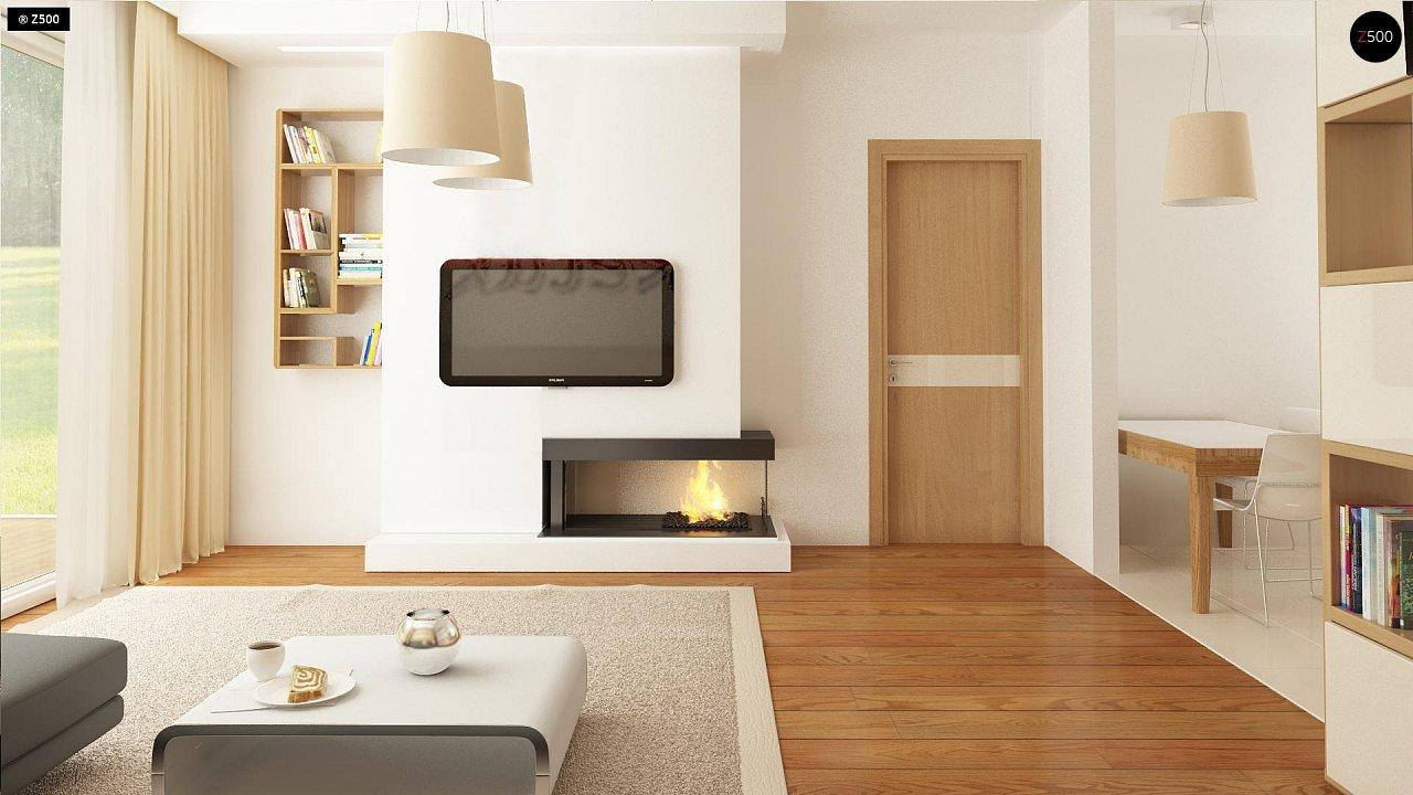 Выгодный компактный одноэтажный дом с угловым окном в кухне. 8
