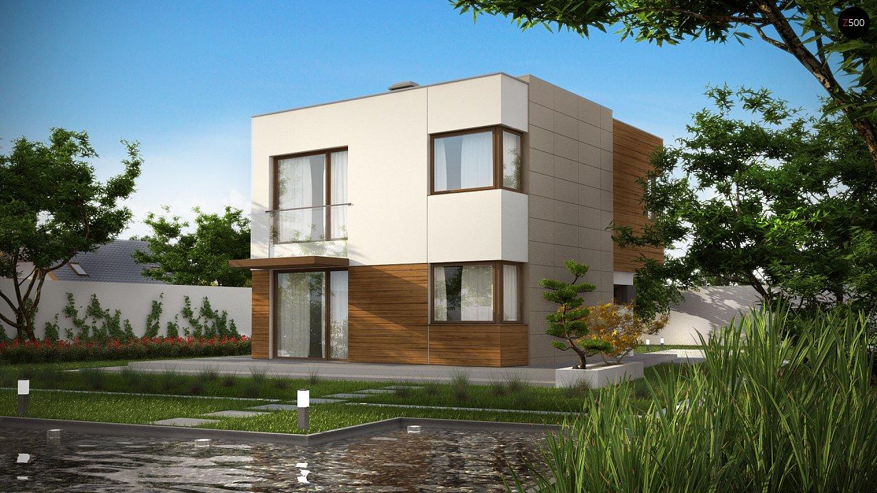 Компактный дом в стиле современного кубизма с тремя спальнями. - фото 2