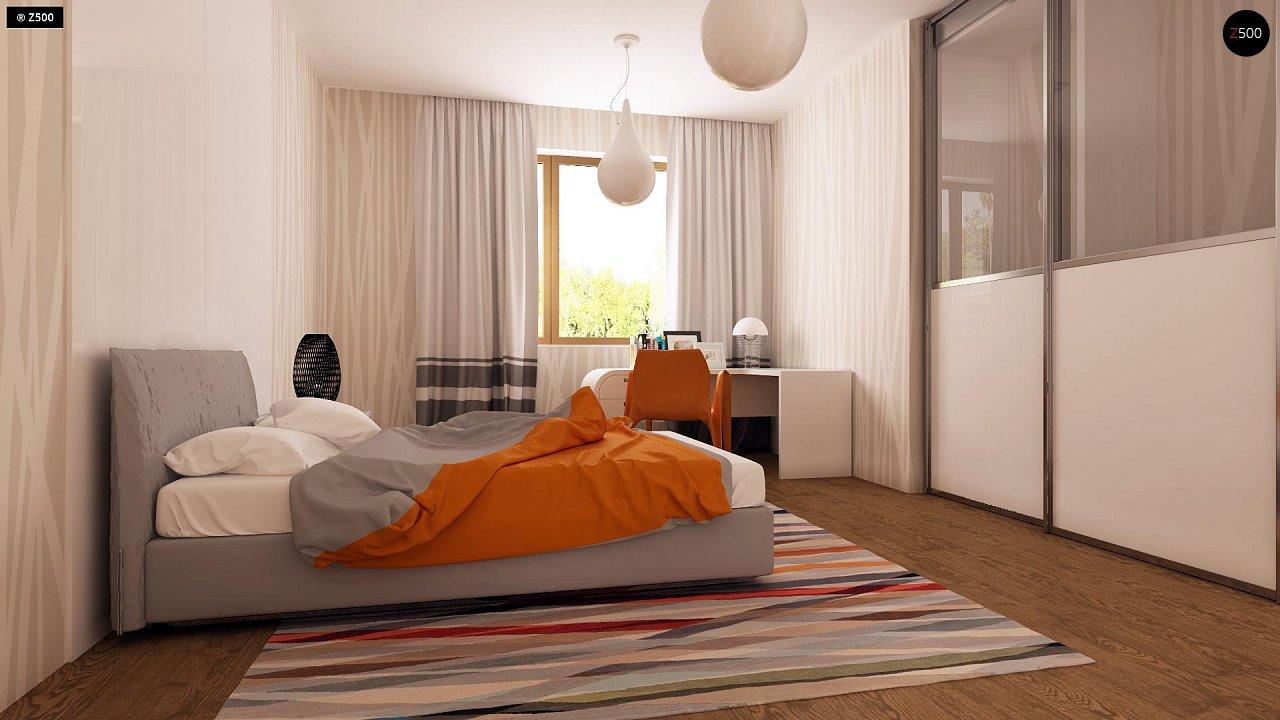 Функциональный одноэтажный дом с современными элементами отделки фасадов. - фото 18