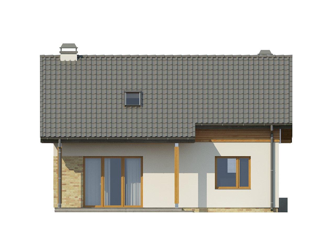 Компактный односемейный дом с дополнительной спальней на первом этаже. 20