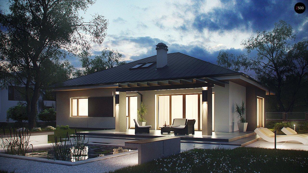 Комфортный элегантный дом с тремя спальнями и выступающим фронтальным гаражом. 2