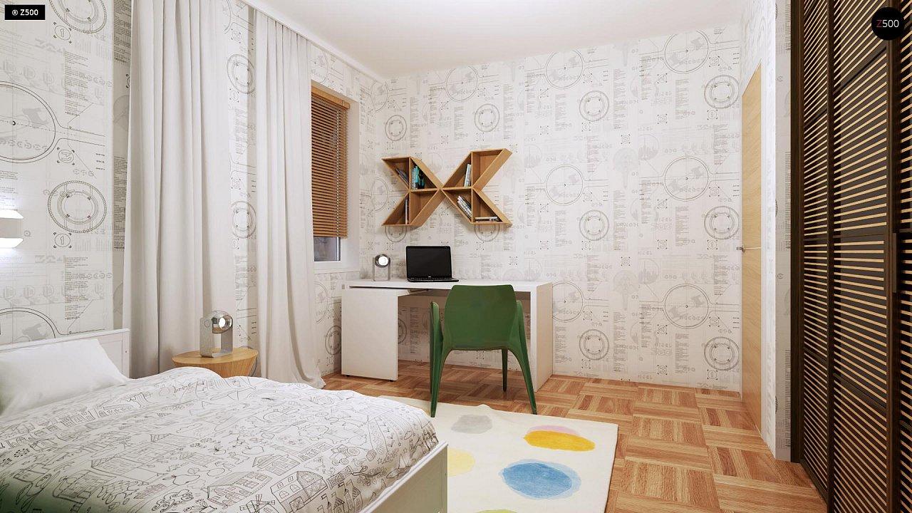 Компактный одноэтажный дом простой формы с возможностью обустройства чердачного помещения. 19