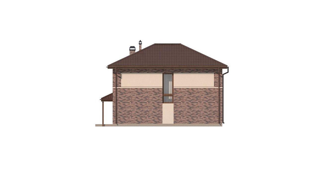 Двухэтажный дом традиционного дизайна 26