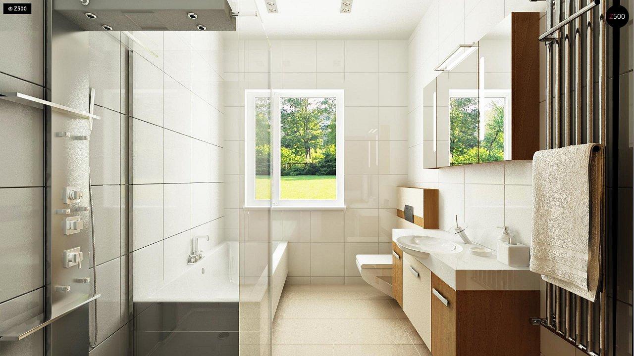 Выгодный компактный одноэтажный дом с угловым окном в кухне. 11