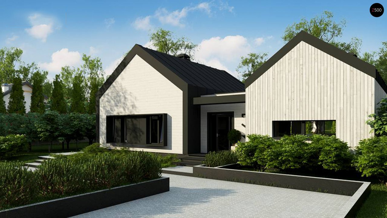 Одноэтажный дом состоящий из двух частей. - фото 5