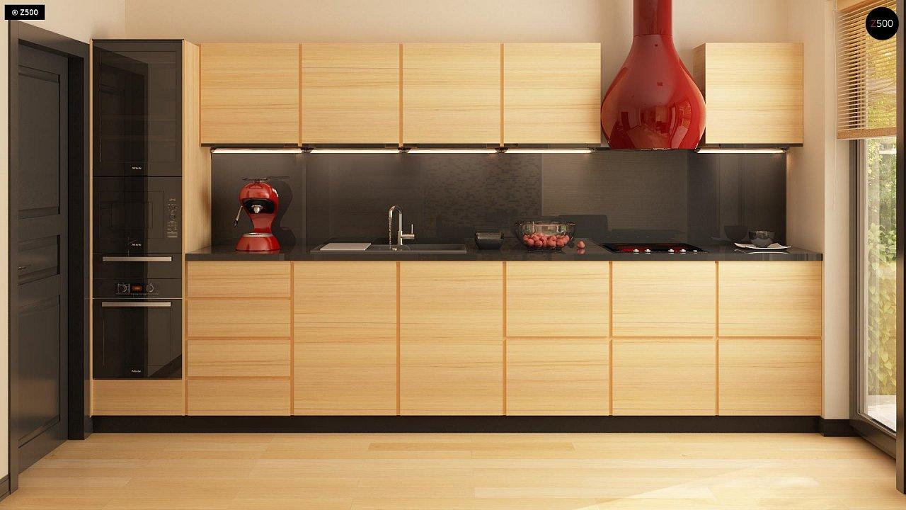 Вариант двухэтажного дома Zx24a с плитами перекрытия 10
