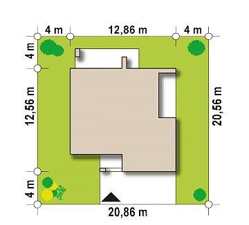 Дом с полноценным вторым этажом , четырьмя спальнями , гаражом и кабинетом на первом этаже план помещений 1