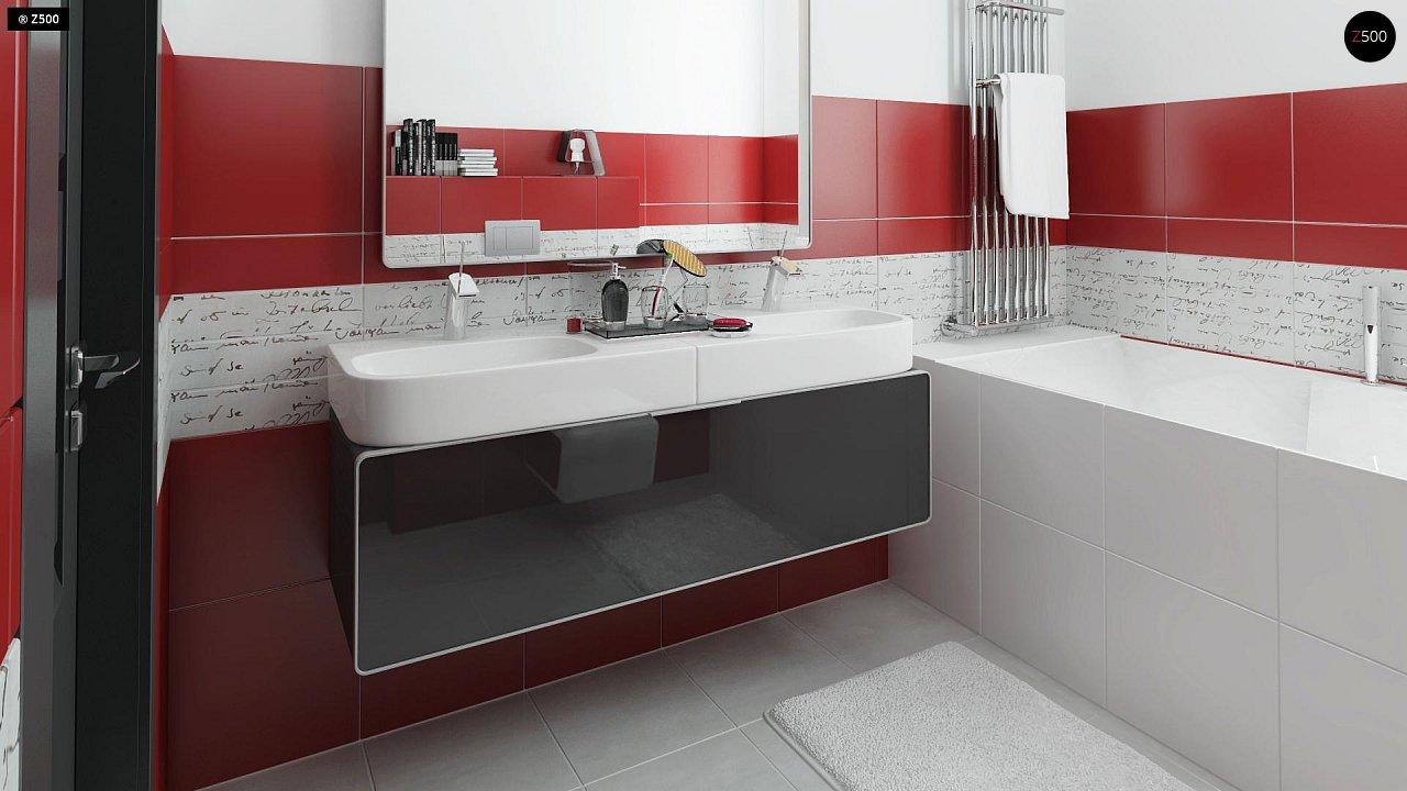 Вариант двухэтажного дома Zx24a с плитами перекрытия 21