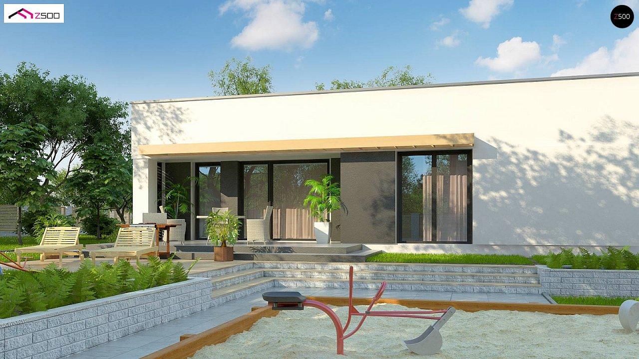 Современный комфортабельный одноэтажный дом с функциональным интерьером и уютной террасой. 3