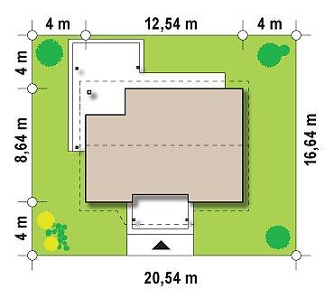 Проект компактного одноэтажного дома, экономичного как в строительстве, так и в эксплуатации. план помещений 1