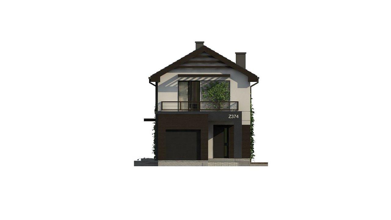 Проект двухэтажного дома в современном стиле, подойдет для строительства на узком участке. - фото 7