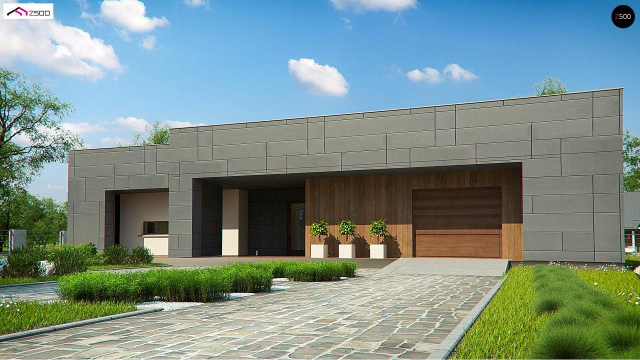Современный односемейный одноэтажный дом с плоской крышей - фото 9