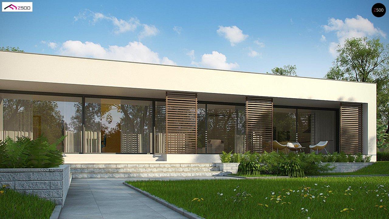 Современный дом с 4 спальнями, гаражом на 2 машины и большими окнами 6