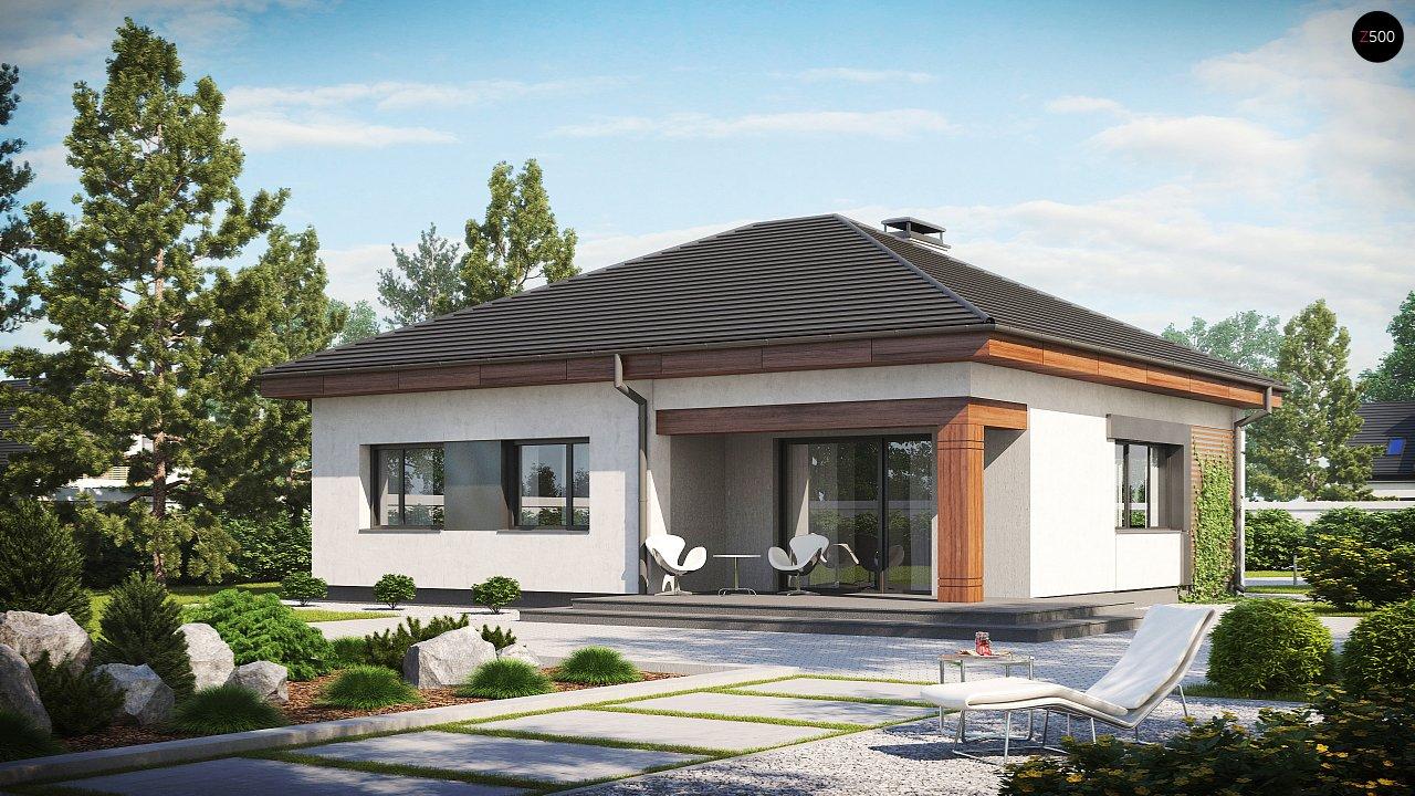 Проект стильного одноэтажного дома в классическом стиле. 2
