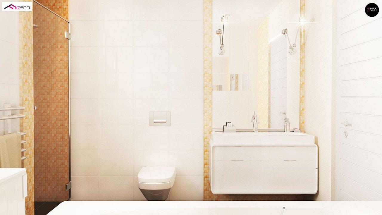 Проект выгодного одноэтажного дома с возможностью адаптации чердачного помещения. 12