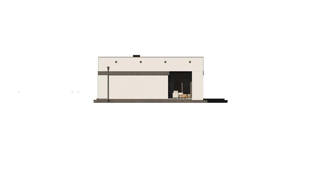 Современный одноэтажный дом хай-тек с навесом для автомобиля 21