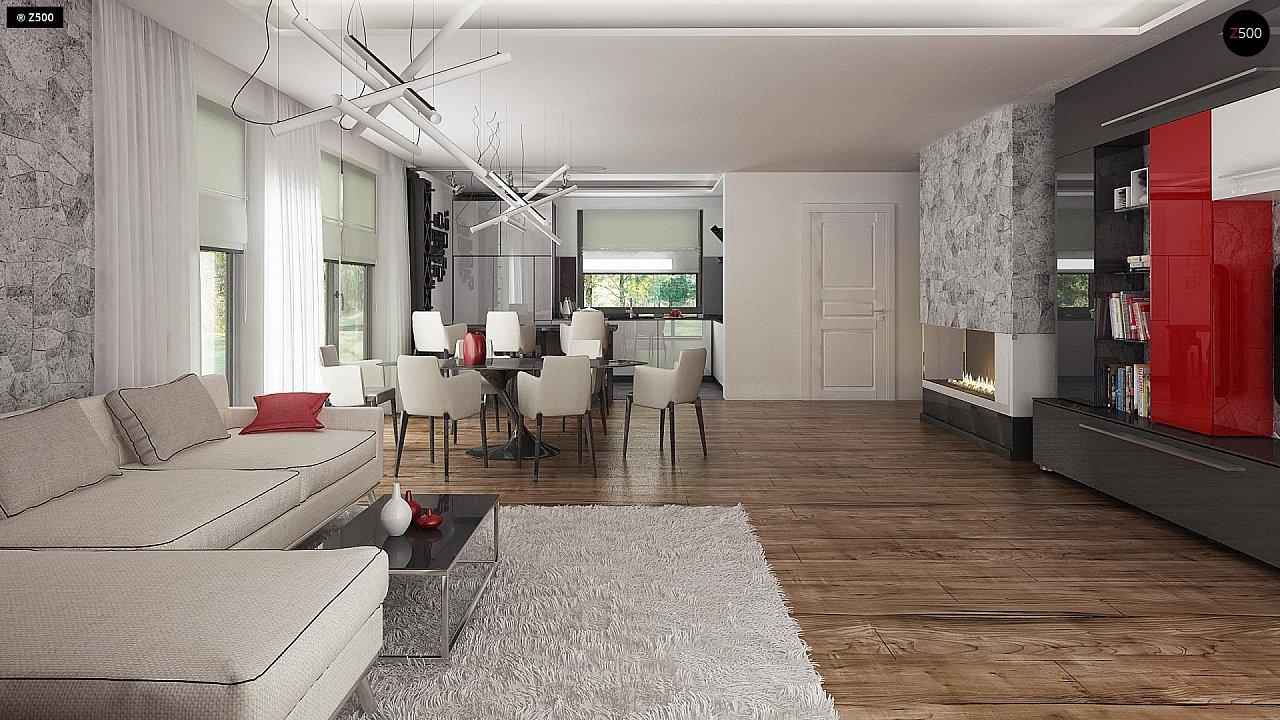 Проект стильного одноэтажного дома с функциональной планировкой - фото 10