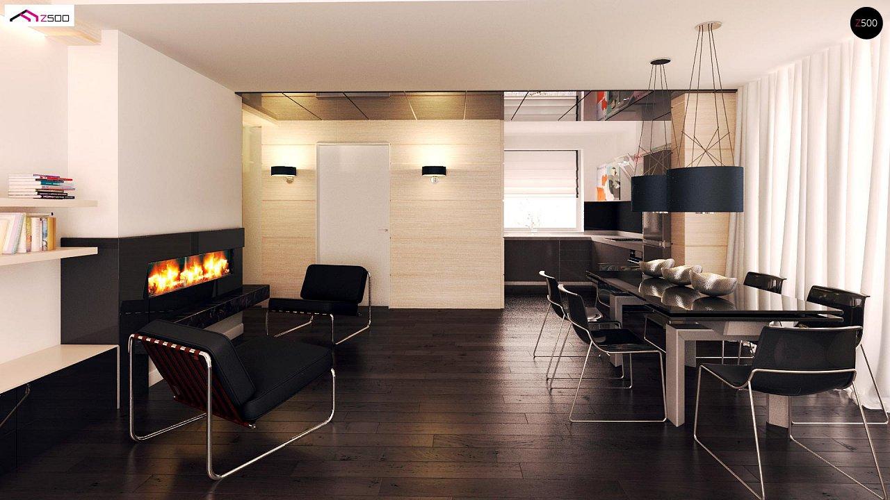Компактный одноэтажный дом с двускатной крышей и 3 спальнями 7