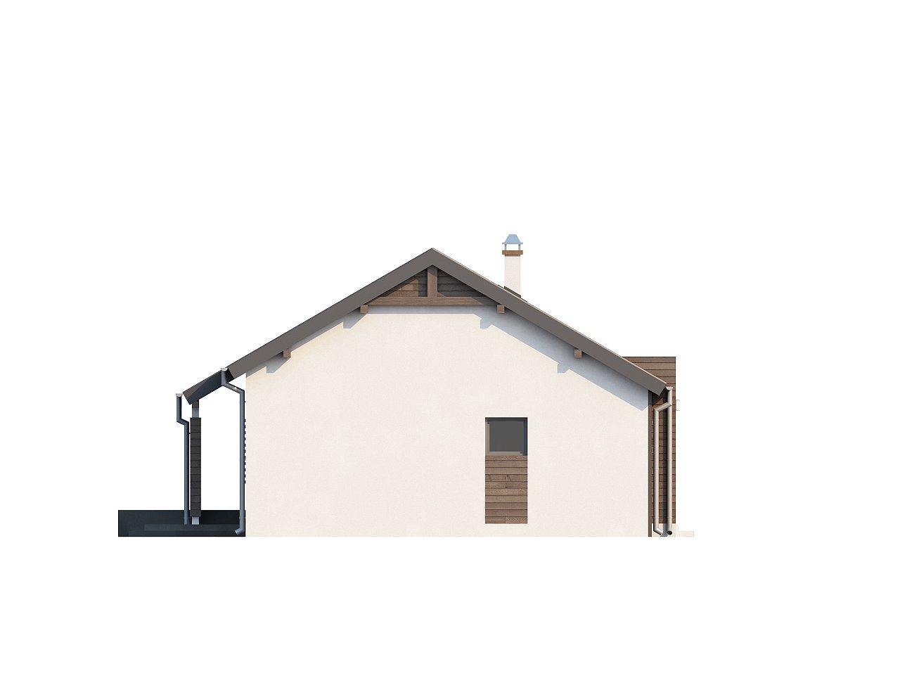 Функциональный одноэтажный дом с современными элементами отделки фасадов. - фото 23