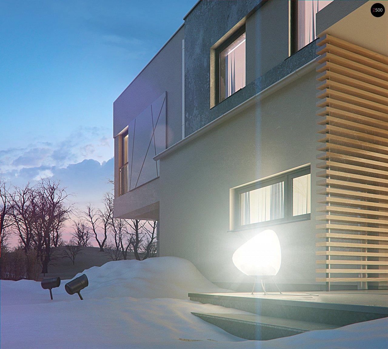 Дом характерного современного дизайна с гаражом и кабинетом на первом этаже. - фото 11
