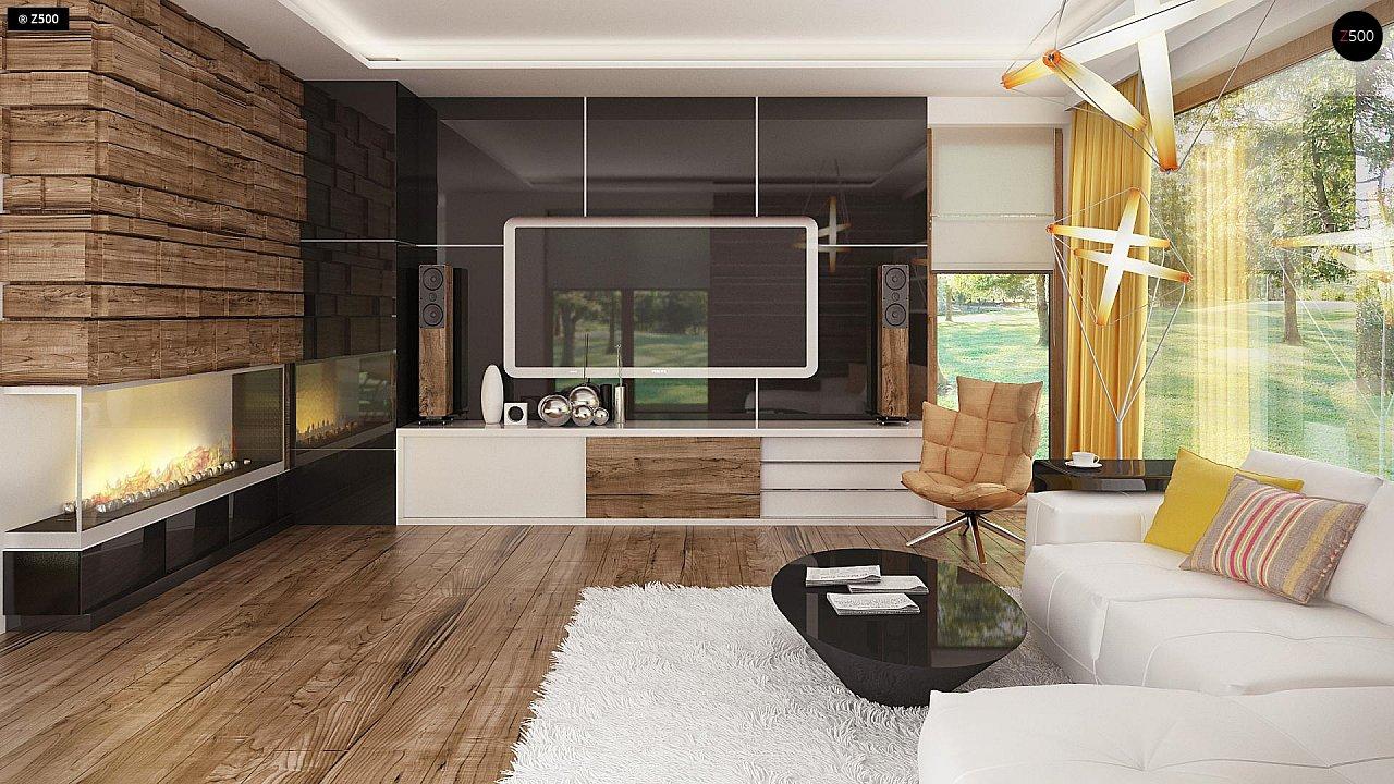 Необычные мансардные окна, фронтальный гараж и современные фасады выделяют этот проект среди остальных. 5