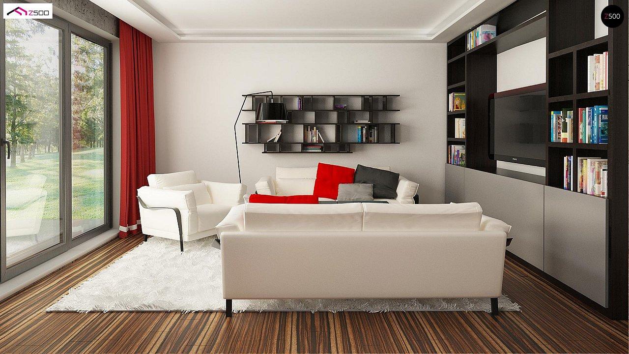 Одноэтажный коттедж с четырехскатной кровлей 12