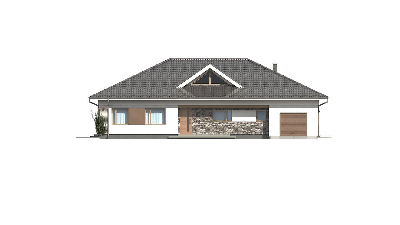 Проект просторного одноэтажного дома с 4 спальнями. - фото 6
