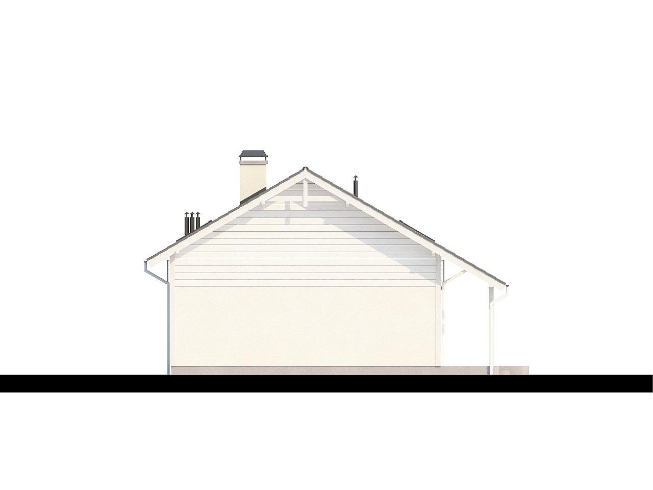 Дом со входом с южной стороны, с большой террасой на втором этаже. - фото 6