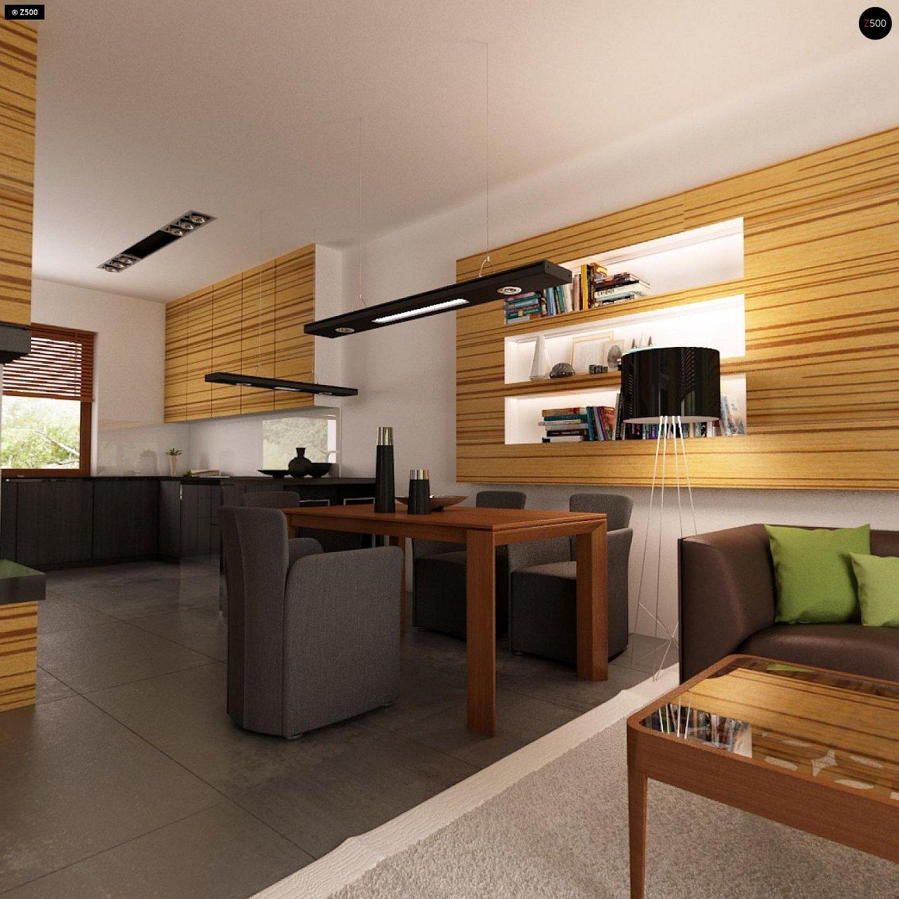 Проект одноэтажного практичного и уютного дома с крытой террасой. 5