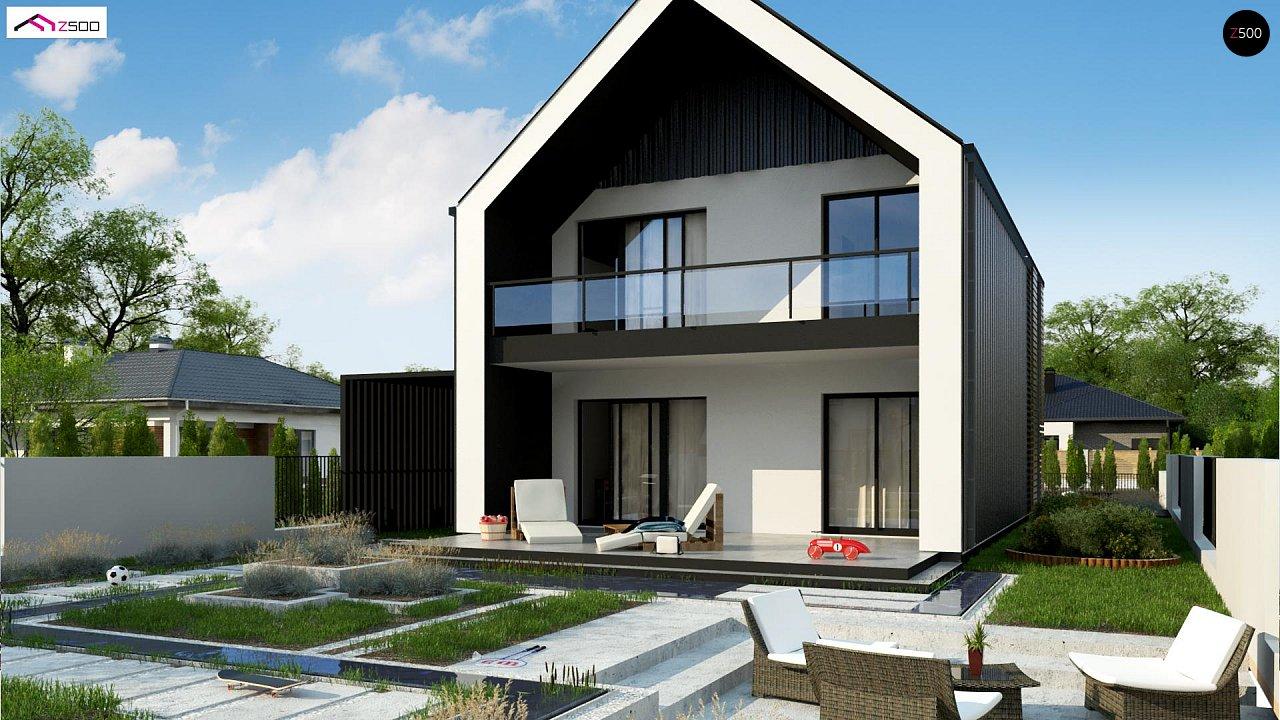 Двухэтажный дом в современном стиле для узкого участка. - фото 2