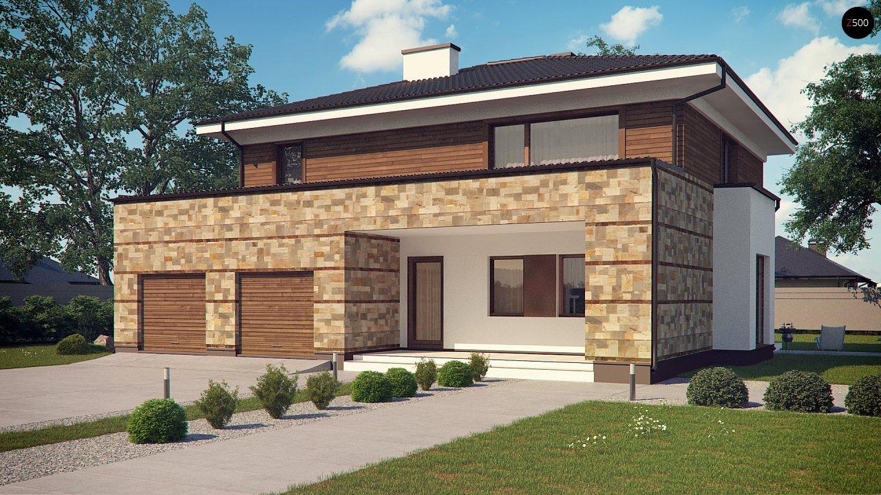 Проект двухэтажного дома с гаражом для двух авто, с баней - фото 3