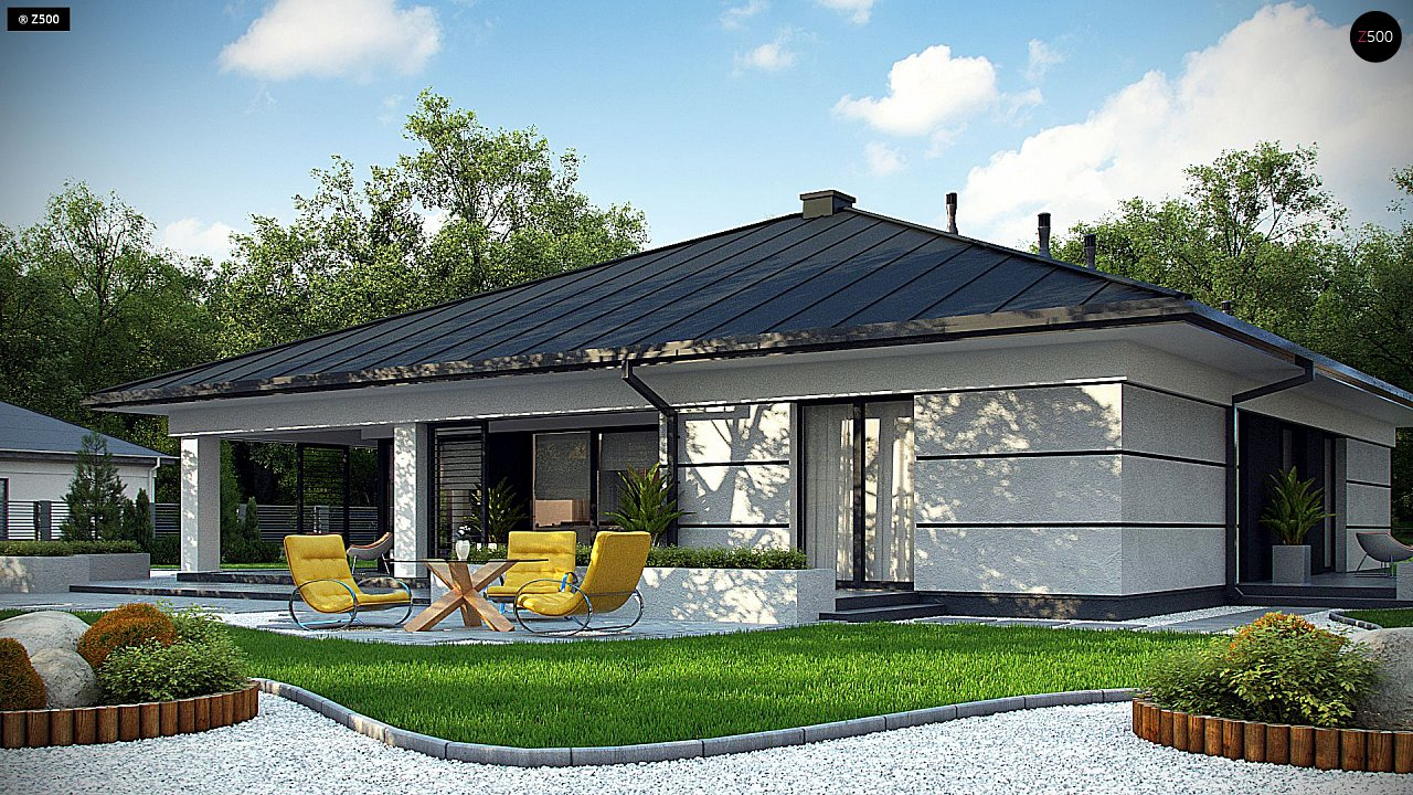 Проект одноэтажного дома с гаражом на две машины - фото 3