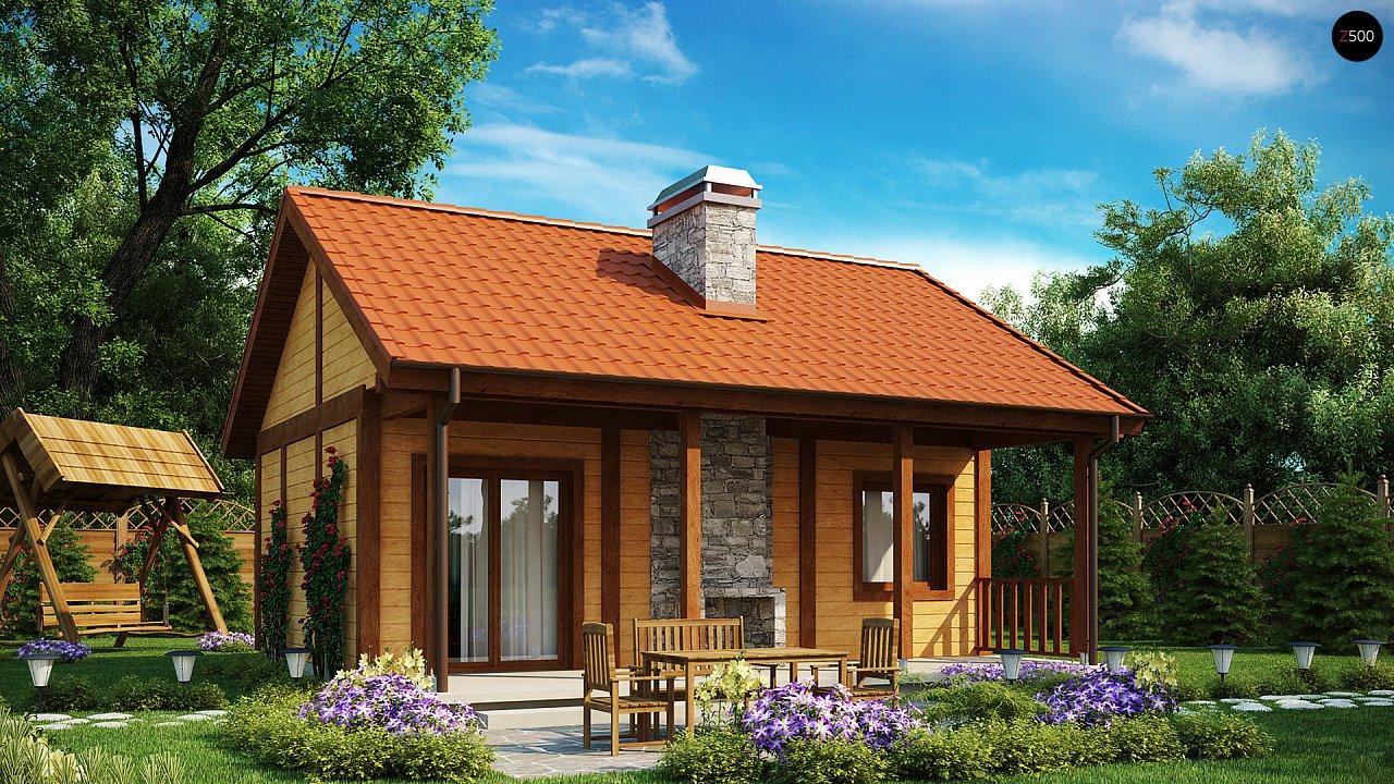 Маленький одноэтажный дом, оснащенный всем необходимым для круглогодичного проживания. 1