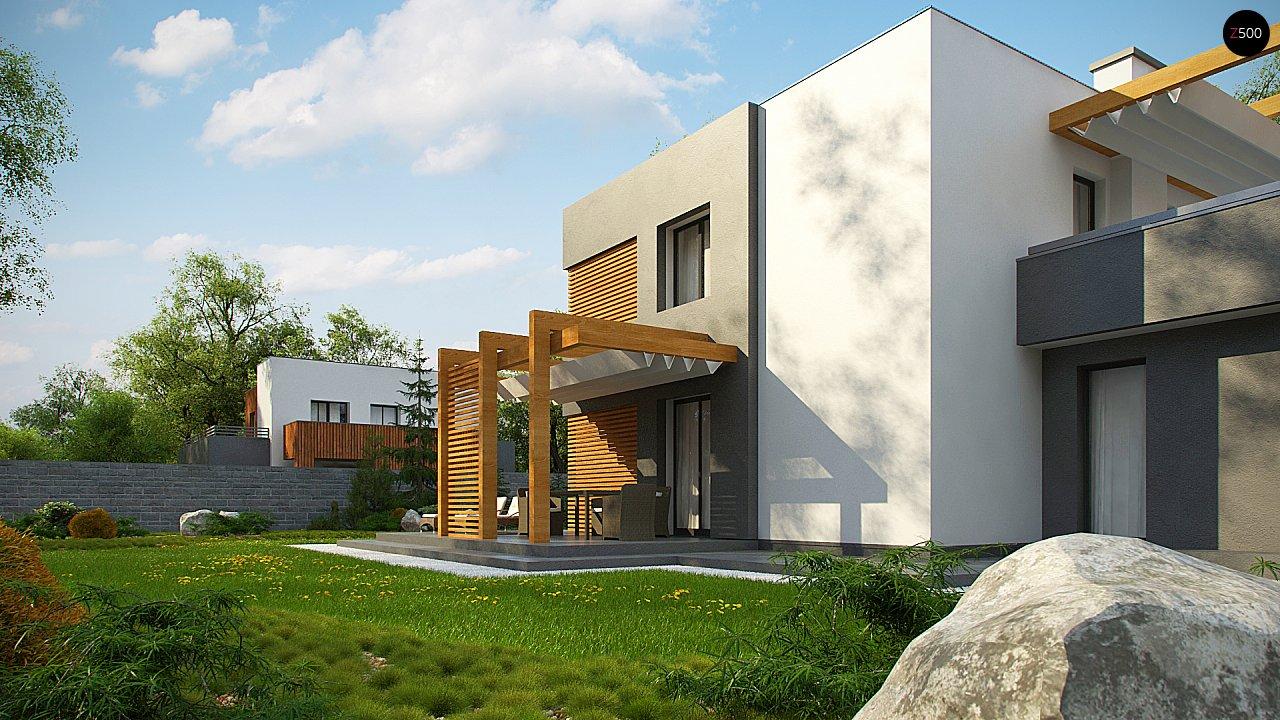 Двухэтажный коттедж современного лаконичного дизайна 8